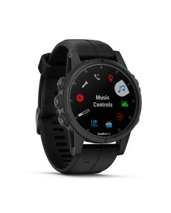 Garmin fenix 5S Plus,Sapphire,Black w/Black Band,GPS Watch,EMEA