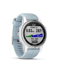 Garmin fenix 5S Plus,Glass,Wht w/Sea Foam Bnd,GPS Watch,EMEA