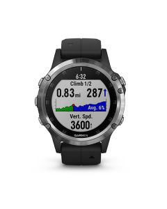 Garmin fenix 5 Plus,Glass,Silver w/Black Band,GPS Watch,EMEA