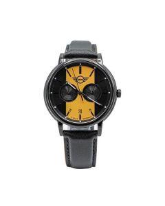 Mini Cooper leather strap watch