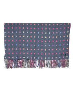 Foxford Brights Multispot Blanket - Grey