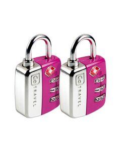 Go Travel - Locks - 344 - Tsa Combination Travel Sentry Lock (Twin Pack)