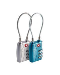 Go Travel COMBI CABLE TSA Lock Twin Pack