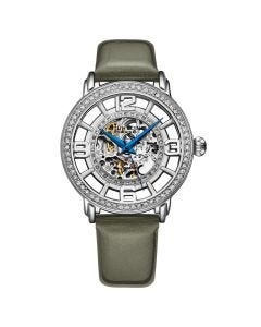 Stuhrling winchester automatic skeleton watch - 38mm -grey