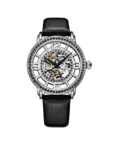 Stuhrling winchester automatic skeleton watch - 38mm-black