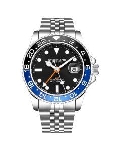 Stuhrling men's Meridian diver watch - 42mm-blue/black