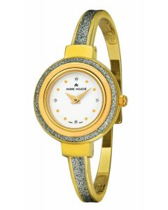 Aura yellow gold plated watch