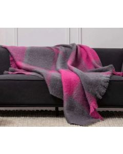 Urban Giant Check Mohair Throw