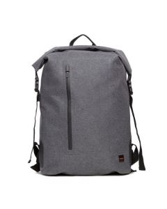 """Knomo Cromwell Water Resistant Roll Top Laptop Backpack 14"""" Grey"""