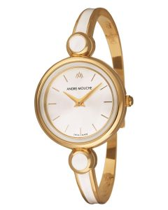 Aria rose gold plated swiss watch