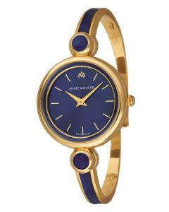 Aria blue dial gold plated watch