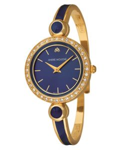 Aria crystal gold plated watch