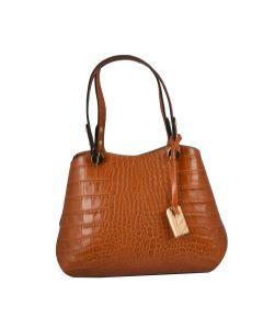 Cresy embossed leather shoulder bag