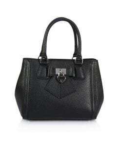 Bow leather tote bag