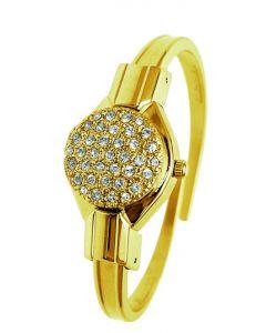 Round swarovski crystal watch