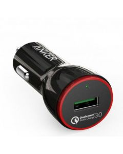 Anker Powerdrive+1 24W Qualcomm Car Charger + Micro USB Cable- Black - B2210H11