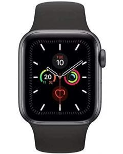 Apple Watch Series 5-44mm GPS Space Gray Aluminium Case with Black Sport Band