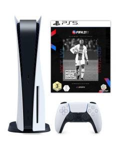 Sony PlayStation 5 Console (PS5) - Disc Version with FIFA 21 Game Bundle