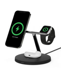Belkin BOOSTCHARGE PRO MagSafe 3 in 1 with 15W Wireless Charger - UK
