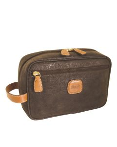 Brics Life Leather Wash Bag