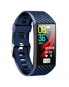 MevoFit Race-Thrust ECG-Smart-Watch for Fitness & Health PRO: Stylish-Sporty-Health-ECG-Smart-Watch, All Activity Tracking- Blue