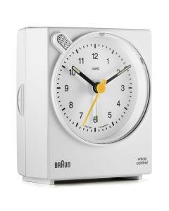 Braun Classic Voice Activated Alarm Clock BNC004WHWH White