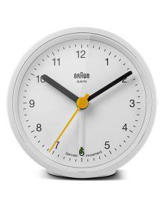 Braun Classic Analog Alarm Clock BNC012WHWH White