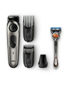 Braun BT5060 rechargeable Beard trimmer & hair trimmer. 39 length settings & lifetime sharp metal blades deliver ultimate precision for an even cut. PHY & E-COM ONLY