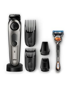 Braun BT7040 rechargeable Beard trimmer & hair trimmer. 39 length settings & lifetime sharp metal blades deliver ultimate precision for an even cut
