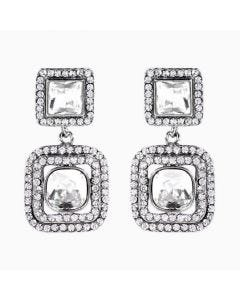 Butler & Wilson Crystal Square Shape Drop Earrings