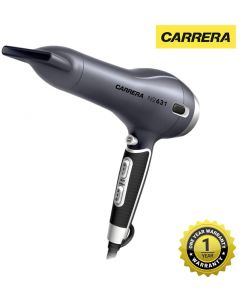 CARRERA 631 Professional Hair Dryers for Men & Women | Hairdryer with Thin Styling Nozzle, Diffuser, Blow Dry, Hot & Cold Air