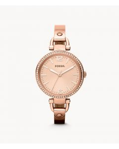 Fossil Georgia Rose-Tone Stainless Steel Watch (ES3226)
