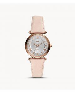 Fossil Lyric Three-Hand Blush Leather Watch (ES4707)