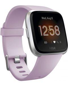 Fitbit Versa Lite,Lilac/Silver Aluminum