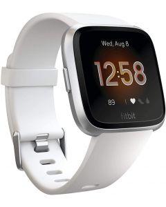 Fitbit Versa Lite,White/Silver Aluminum