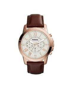 Fossil Grant Chronograph Brown Leather Watch  (FS4991IE)