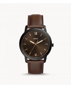 Fossil Minimalist Three-Hand Brown Leather Watch (FS5551)