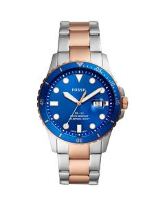 Fossil FB-01 Three-Hand Date Two-Tone Stainless Steel Watch (FS5654)