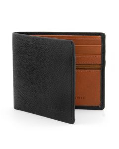 Gryphen Two Fold Black and Tan Leather Wallet