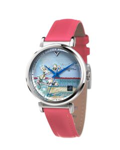 Sprig of Flowering Almond blossom in a glass 3D watch