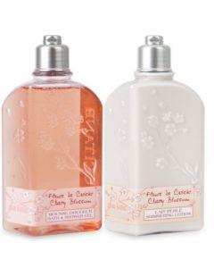L'Occitane Cherry Blossom Shower Gel and Body Lotion Set