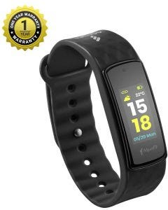 MevoFit Bold HR Fitness Band & Smart-Fitness-Watch for Athletes & Sports PRO with Color Display, Black