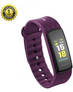 MevoFit Bold HR Fitness Band & Smart-Fitness-Watch for Athletes & Sports PRO with Color Display,Purple