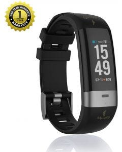 MevoFit Drive-Care ECG-Fitness-Band & Smart Watch for Fitness & Heath PRO: Stylish-Sporty-Health-ECG-Fitness-Band, All Activity, Black