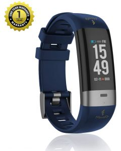 MevoFit Drive-Care ECG-Fitness-Band & Smart Watch for Fitness & Heath PRO: Stylish-Sporty-Health-ECG-Fitness-Band, All Activity, Blue