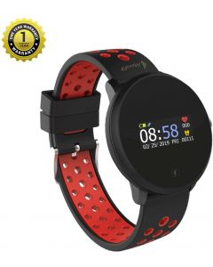 MevoFit Race-Dive Swimming-Smart-Watch for Fitness & Sports PRO: Stylish-Sporty-Swimming-Smart-Watch, All Activity Tracking, Red