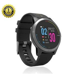 MevoFit Race-Thrust ECG-Smart-Watch for Fitness & Health PRO: Stylish-Sporty-Health-ECG-Smart-Watch, All Activity Tracking-Black
