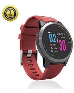MevoFit Race-Thrust ECG-Smart-Watch for Fitness & Health PRO: Stylish-Sporty-Health-ECG-Smart-Watch, All Activity Tracking Red