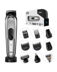 Braun All-in-one trimmer MGK7020, 10-in-1 trimmer, 8 attachments and Gillette Fusion5 ProGlide razo