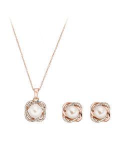 Pica LeLa GRACE Crystal Necklace Earrings Set